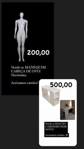 Vende-se BALCÃO CABIDEIRO/ MANEQUIM E ESPELHO PRATELEIRA