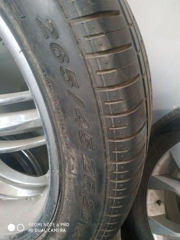 Pneus e rodas semi novos ,serve na capitiva ou for ranger - Foto 4