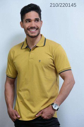 Kit 3 Camisas Pólo Meia Malha Sudotex C/ Frisos Tecido Macio Alta Qualidade Frete Grátis - Foto 4