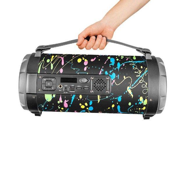 Caixa de Som Portátil Pulse Bazooka SP362 com Bluetooth, USB, Micro SD Rádio FM 120W - Foto 5