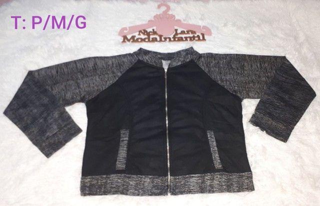 Jaquetas juvenil peluciada por dentro feminina  - Foto 3