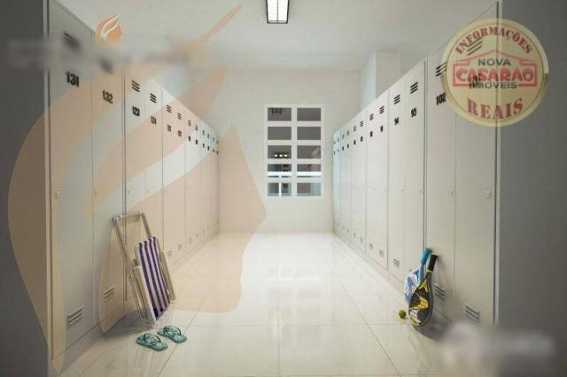 Apartamento com 2 dormitórios à venda, 93 m² por R$ 465.000 - Aviação - Praia Grande/SP - Foto 8