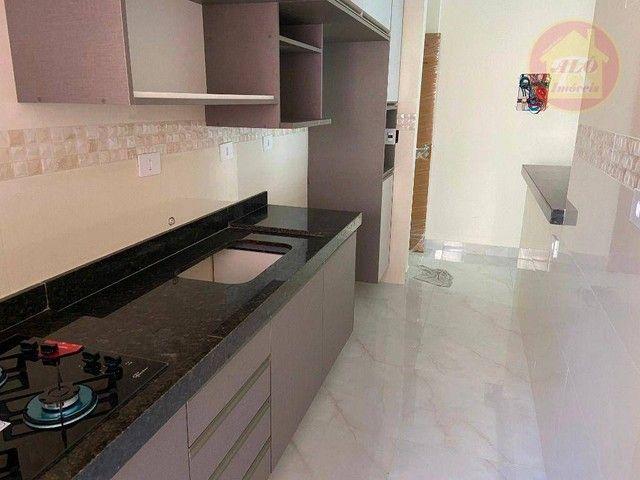 Apartamento com 2 dormitórios à venda, 70 m² por R$ 359.000 - Tupi - Praia Grande/SP - Foto 5