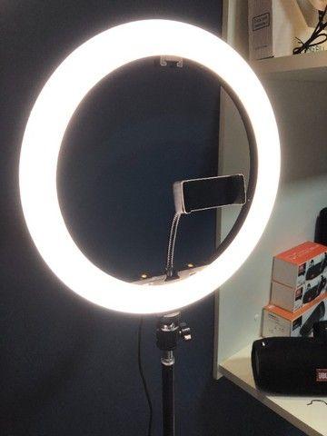 Ring light 30 cm com tripe 2,1 metros (Novo)