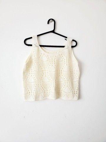 Conjunto Saia Longa e Croped de Crochê - Foto 2