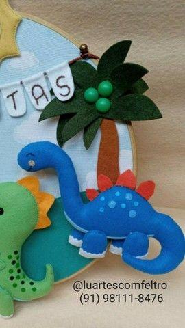 Bastidor decorado Dinossauro  - Foto 6