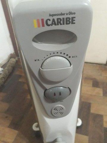 Aquecedor a óleo 110v 750w 1500w Caribe sem uso BARBADA Liberando espaço corre!  - Foto 2