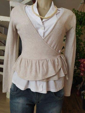 Lote 100 peças de roupas femininas seminovas, lindas - Foto 3