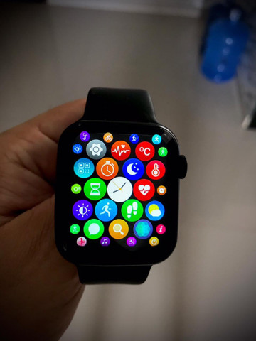 Smartwatch iwo 46 tela infinita  - Foto 4