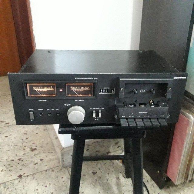 Tape Deck Gradiente preto ñ Receiver Marantz Sansui CCE Sony Akai Kenwood Technics   - Foto 3