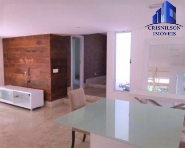 Casa à venda condomínio alphaville i salvador, decorada, 4 suítes, r$ 2.500.000,00, piscin - Foto 12