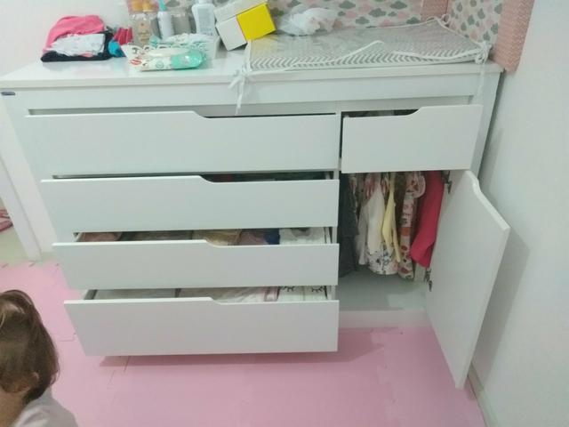 Cômoda Infantil Cléo Branco Acetinado - Carolina Móveis - Foto 2