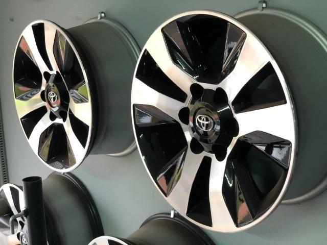 Rodas Aro 17 Toyota Hilux Original SRV Black Diamond - Foto 2