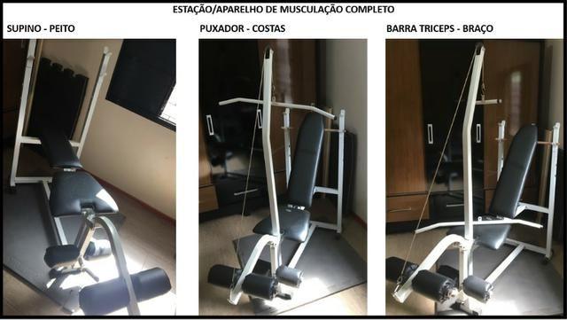 016041a0f9c Estação Aparelho de Musculação Completo (Usado