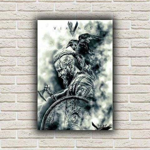 Placas Decorativas Vikings 20x29cm Objetos De Decoração Vaz Lobo