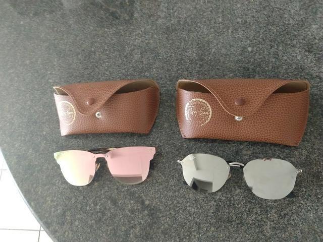 Vende-se dois óculos de sol espelhado - Bijouterias, relógios e ... 8f68a41ee1