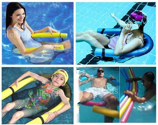 Poltrona Flutuante Piscina E Mar Cadeira Boia De Espaguete Macarrão Verão - Foto 2