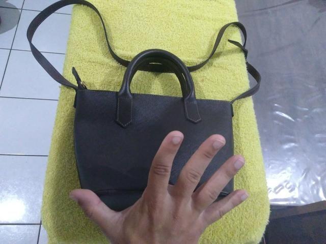 Bolsa de couro legítimo - Foto 6