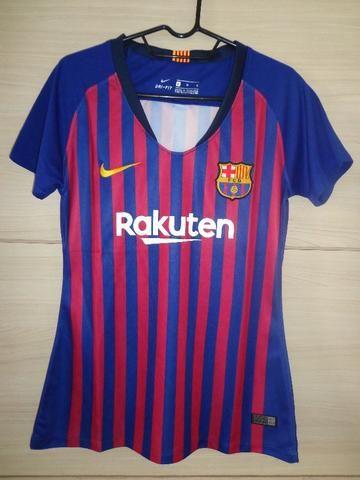 Camisa Feminina Barcelona Home 2018 / 2019
