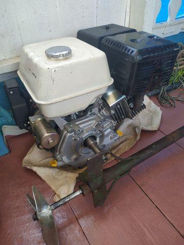 Motor 15hp Partida Elétrica Branco sem uso e rabeta - Foto 4