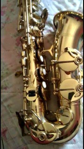 SAX saxofone Windsor revisado,  lindo impecável  - Foto 4