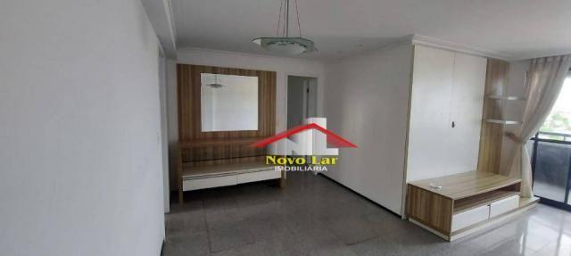 Apartamento com 3 dormitórios para alugar, 113 m² por R$ 1.800,00/mês - Fátima - Fortaleza - Foto 19