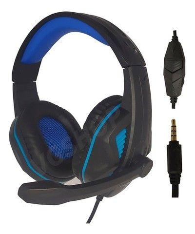 Fone gamer headset gamer fone com microfone para pc xbox e ps4 - Foto 3