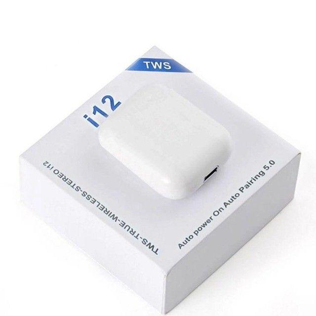 Fone de Ouvido Bluetooth I12 Tws Com Touch - Foto 3