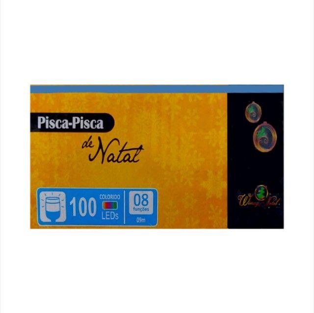 Pisca pisca natal 8 funções 100 leds várias cores 110v - Foto 2