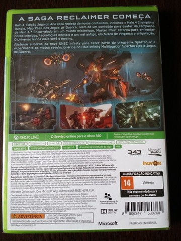 Halo 4 Ed. Colecionador (Dublado-Novo-lacrado) - Xbox360 - Original - Foto 2
