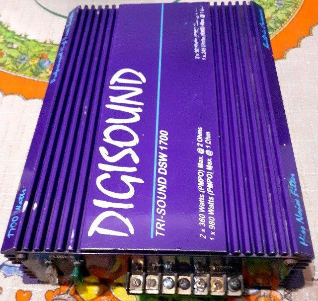 Vendo módulo de som automotivo Digisound 1700 Watts (testado, funcionando perfeitamente) - Foto 3