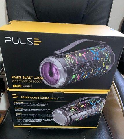 Caixa de Som Portátil Pulse Bazooka SP362 com Bluetooth, USB, Micro SD Rádio FM 120W - Foto 6