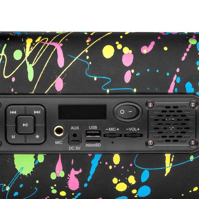 Caixa de Som Portátil Pulse Bazooka SP362 com Bluetooth, USB, Micro SD Rádio FM 120W - Foto 2