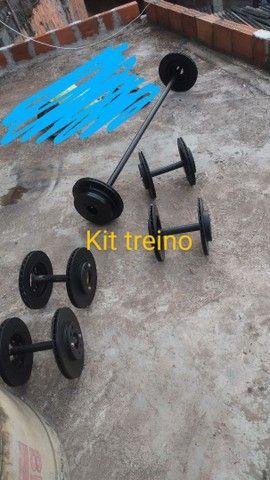 Kit treino artesanal de ferro
