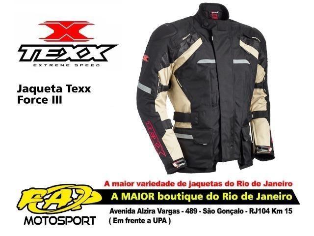 107218f3d5 Jaqueta Moto Texx Force III Parka Impermeável Bege - Peças e ...