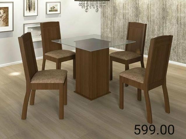 """Conjunto de mesa 4 cadeiras adar """" ENTREGA HOJE OU EM ATÉ 24 HORAS"""