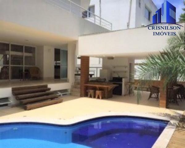 Casa à venda condomínio alphaville i salvador, decorada, 4 suítes, r$ 2.500.000,00, piscin - Foto 3