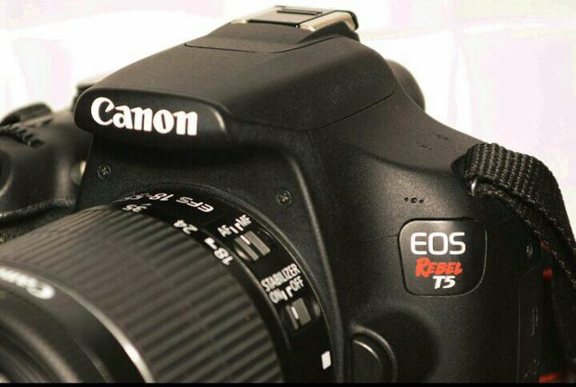 Câmera Fotográfica Canon EOS Rebel T5 seminova - Aceito cartão de crédito - Foto 6