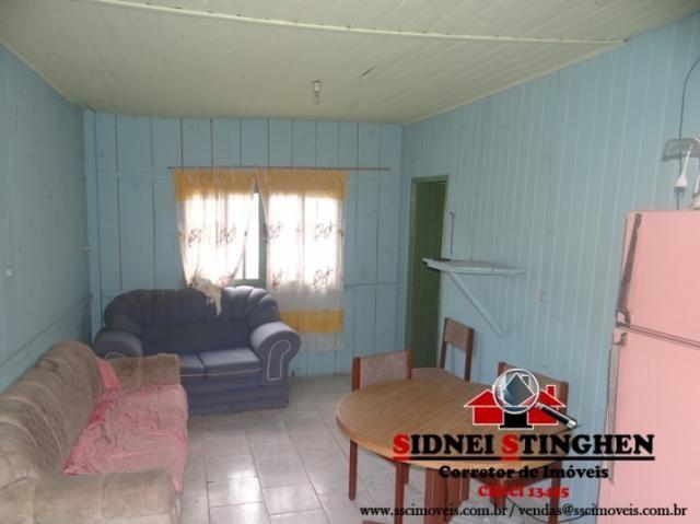 Casa de madeira, bem próxima da lagoa, em Bal. Barra do Sul - SC. - Foto 4