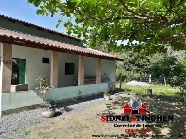 Casa seminova com laje, na praia de Bal. Barra do Sul-SC. - Foto 17