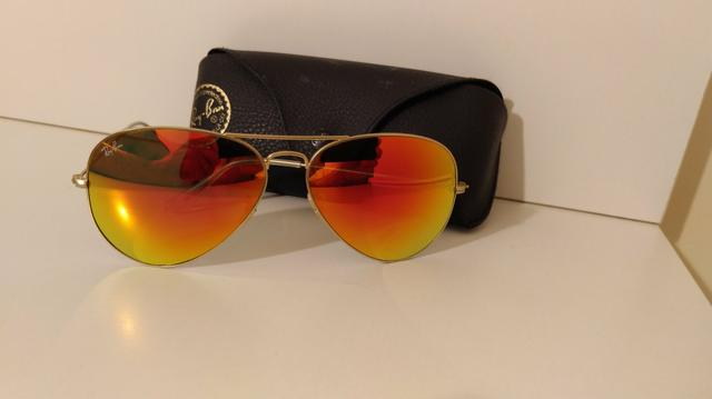 bc455666136e6 Óculos Rayban espelhado tam. 62 Original - Bijouterias, relógios e ...