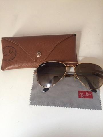 Óculos de Sol Ray-Ban Aviator - Dourado - Bijouterias, relógios e ... e7a9b26290