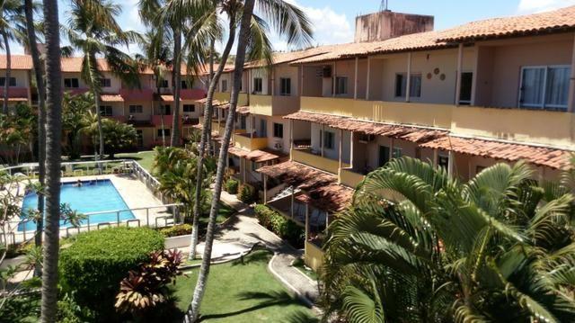Apartamento Barra de São Miguel, 2 quartos c/ ar condicionado, varanda e piscina - Foto 12
