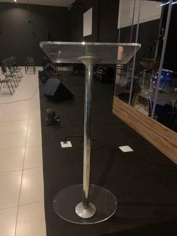 Púlpito acrílico para igreja Estilo Hilsong e retorno para palco 500w - Foto 2