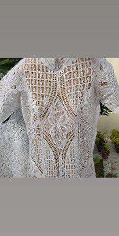 Cropped de renda Renascença com linha de algodão, novo, Palugs Renascença - Foto 4