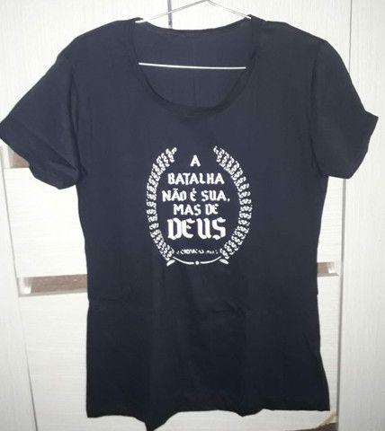 Camisetas femininas kit com 5 - Foto 4