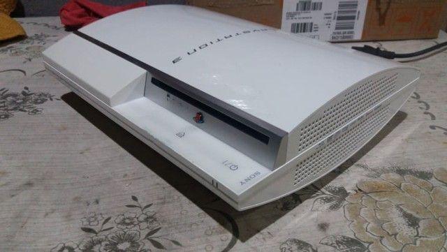 Ps3 Fat Branco Desbloqueado Console raríssimo