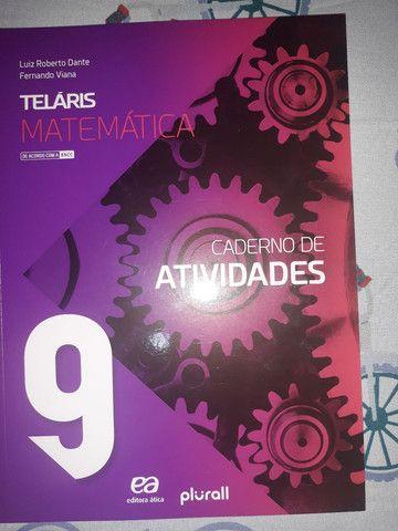 Livro do 9 ano de matematica telaris mais o caderno de atividades
