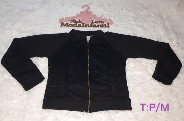 Jaquetas juvenil peluciada por dentro feminina  - Foto 5
