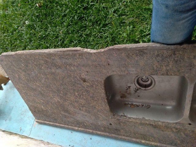 Tampao pia em mármore 1,80 cm com 2 cubas - Foto 3